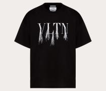 Valentino Uomo T-shirt Vltn mit Fransendetail, Designt in Zusammenarbeit mit Doublet M