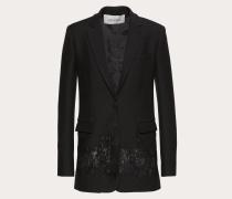 Valentino Blazer aus Crêpe Couture und Spitze