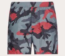 Valentino Uomo Badeshorts mit Camouflage Print