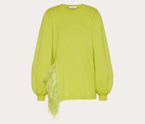 Bestickter Pullover aus Wolle und Kaschmir M