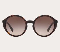 Valentino Occhiali Runde Sonnenbrille aus Acetat mit Nieten