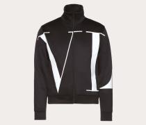 """Valentino Uomo Sweatshirt mit Reissverschluss und Grossem """"vltn""""-print L"""