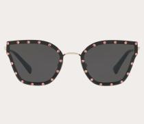 Valentino Occhiali Cateye-Sonnenbrille aus Metall mit Kristallen