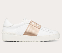 Valentino Garavani Sneaker Open mit Streifen in Metallic-Optik