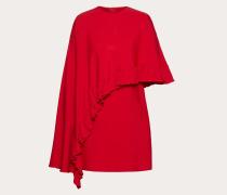Valentino Kleid aus Doubleface-viskose mit Rüschen