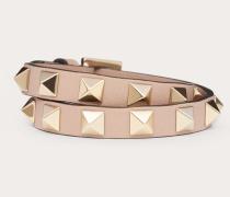 Valentino Garavani Double-loop-armband Rockstud aus Kalbsleder