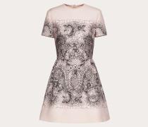 Valentino Kleid aus Crêpe Couture mit Lace-print