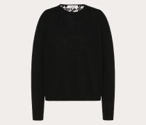 Valentino Pullover aus Kaschmirwolle und Heavy Lace M