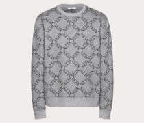 Valentino Uomo Rundhalssweatshirt mit Vltn Grid-print XS