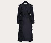 Valentino Trenchcoat aus Nylon mit Rüschen