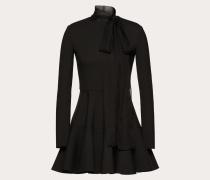 Valentino Kleid aus Techno Double Wool und Chiffon