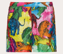 Valentino Uomo Badeshorts mit Go Tiger-print
