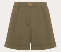 Shorts Vgold aus Gabardine