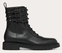 Valentino Garavani Combat Boots Rockstud aus Kalbsleder mit 20 Mm-absatz