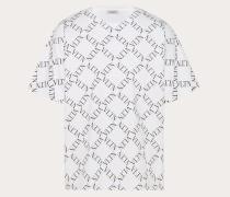 Valentino Uomo T-shirt mit Vltn Grid-print S