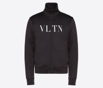 Valentino Uomo Sweatshirt mit Reissverschluss und Vltn Print S