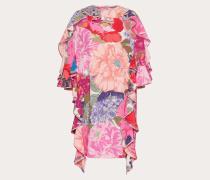 Valentino Bedrucktes Kleid aus Crêpe De Chine