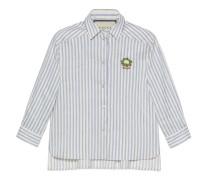 Hemd aus gestreiftem Baumwoll-Leinen mit Blumenkohl