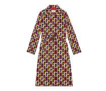 Mantel aus Seide mit G Sequence-Print und Gürtel