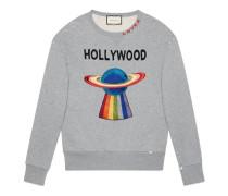 Pullover aus Baumwolle mit Planet
