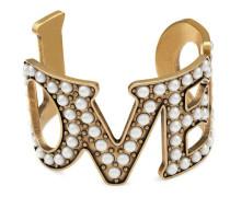 Armband mit Loved-Anhänger mit Perlen