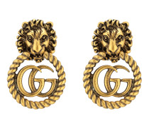 Löwenkopf-Ohrringe