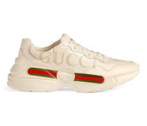 Sneaker aus Leder Rhyton mit Gucci Logo