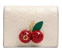 Kartenetui aus Gucci Signature mit Kirschen
