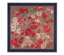 Halstuch aus Modal und Seide mit Frühlingsstrauß-Print