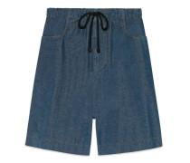 Shorts aus Stretch-Cord