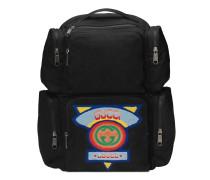 Großer Rucksack mit GucciPatch im 80er-Stil