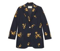 Jacke aus Blumen-Fil Coupé