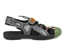 Herren-Sandale aus Leder und Netz