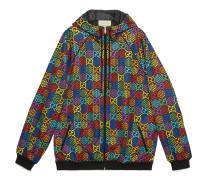 Übergroße Jacke mit GG Psychedelic-Print