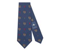 Krawatte aus Seide mit Tiger-Muster