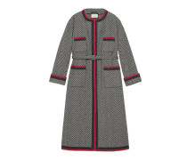 Mantel aus Tweed mit Chevron-Muster