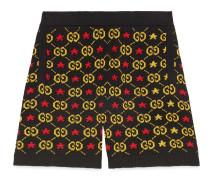 Shorts aus Jacquard mit GG Motiv und Sternen