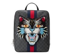 Rucksack aus GG Supreme mit Katzen-Stickerei