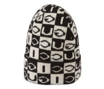 Mütze aus GucciWolle mit Schachbrettmuster