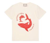 Übergroßer T-Shirt mit Hai-Print