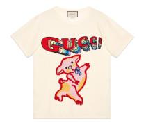 Übergroßes T-Shirt aus Baumwolle mit Ferkel für Damen