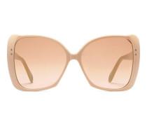 Sonnenbrille mit extragroßem, quadratischem Rahmen