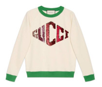 Pullover mit Gucci Game-Applikation