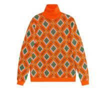 Pullover aus Woll- und Lurex-Jacquard