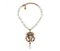 Halskette mit GG und Kristallen