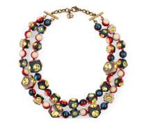 Vintage Web Halskette mit Kristallen