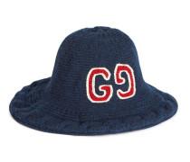 Mütze aus Wolle mit GG Stickerei