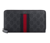 Brieftasche aus GGSupreme mit Rundumreißverschluss und Webstreifen