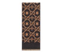 GG Jacquard-Schal mit Bienen und Sternen