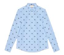 Duke Hemd aus Baumwolle mit Bienen- und Sternmotiv